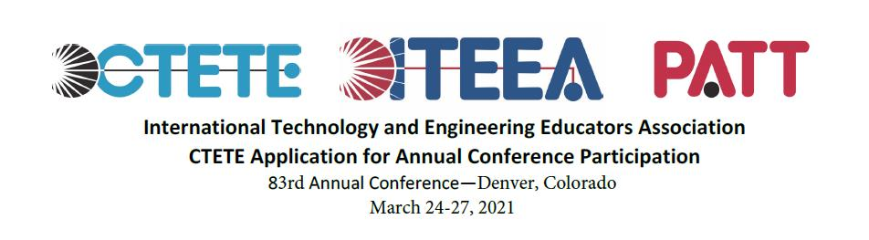 2021 CTETE Application to Present at ITEEA